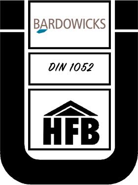 Ü-Zeichen mit Bardowicks- und HBF-Logo