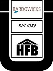 Qualitätssiegel für Bardowicks GmbH - Prüf-, Überwachungs- und Zertifizierungsstelle für Bauprodukte und Bauelemente (HBF)