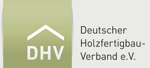 Logo Deutscher Holzfertigbauverband e.V. (DHV)